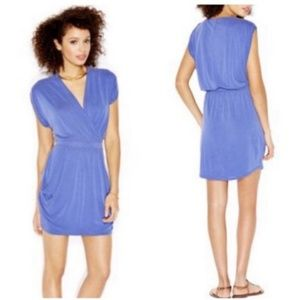 Rachel Roy blue 24-hour draped mini dress B56